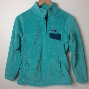 Girls Patagonia T snap pullover fleece jacket Lrg